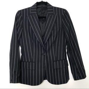 Theory Wool Blend Striped Blazer Navy Blue Size 4